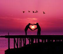 Sunset purple sky & <3 #justperfect