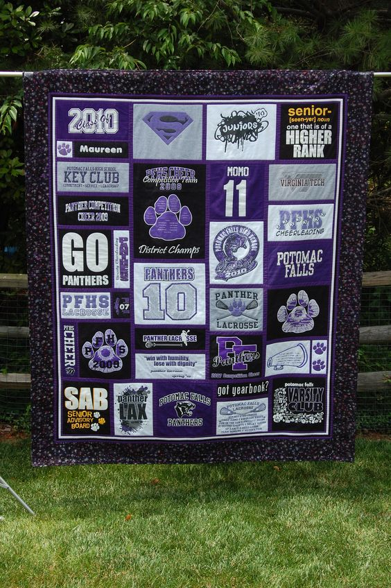 Maureen's High School T-shirt Quilt