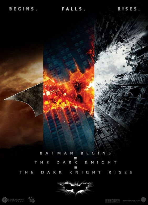 Hoje é dia de Batman, nao tem como não lembrar dos posters dos 3 filmes.