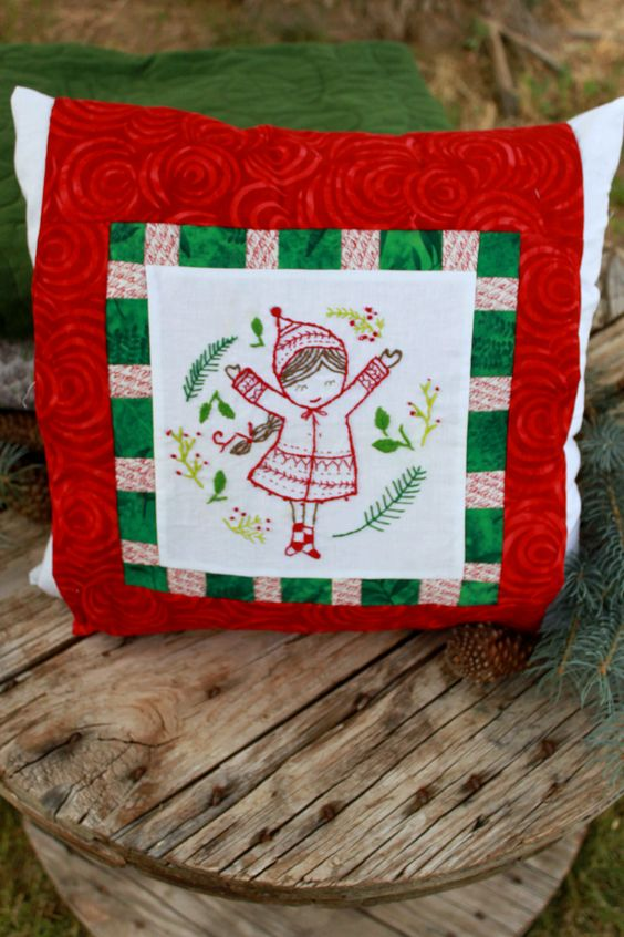 We are so happy that Christmas is coming! From the warmth of hot chocolate with the kids by the fire in our  wood stove here on the farm, to the joy of making Christmas quilts as presents for your loved ones, we are looking forward to the season of cheer! Follow the link to our website where we are offering this pillow cover pattern for free when you subscribe! Sign up for our email and you'll recieve 15% off your first order.