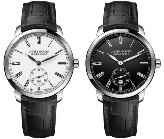 Ulysse Nardin Classico Manufacture Grand Feu Ref. 3203-136-2E2 and 3203-136-2E0-42
