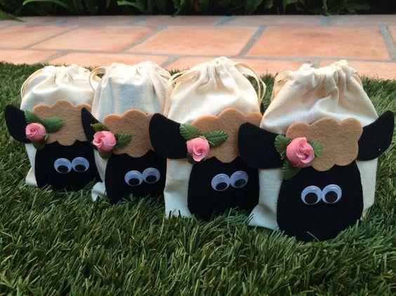 Cute Sheep Goody Bags for Eid Al-Adha