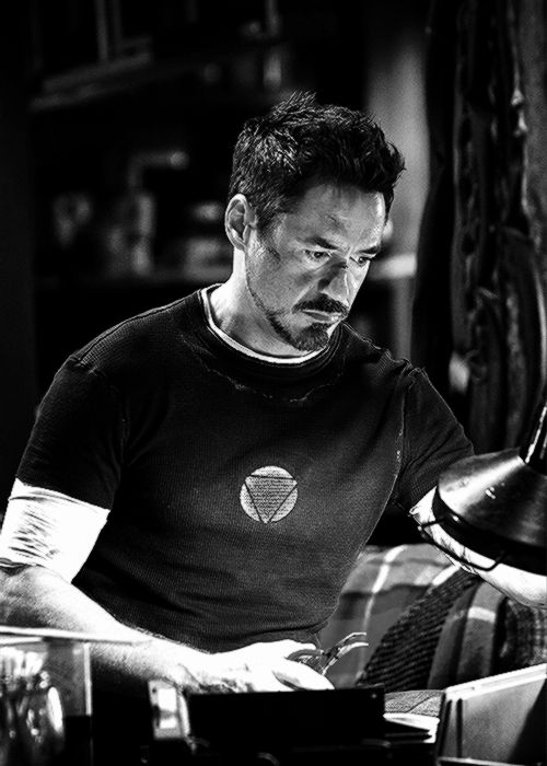 "Tony Stark at work (""Iron Man 3"")"