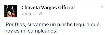 ¡A tu Salud  Chavela!