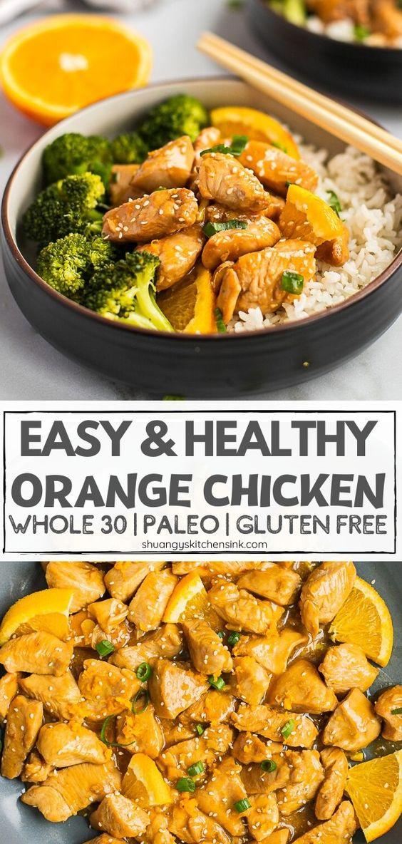Healthy Paleo Orange Chicken - Shuangy's Kitchensink