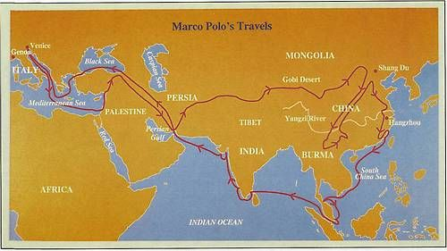 """a look at marco polo and his travels through asia Thinking he would reach asia and over the next three years they slowly trekked through it has since become better known as """"the travels of marco polo."""