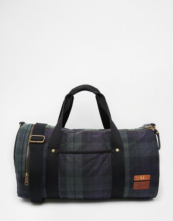 Fred Perry British Millerain Barrel Bag