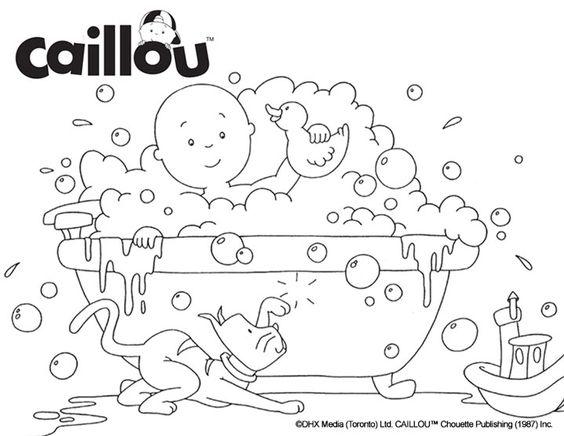 Caillou Coloring Sheet – Bubble the Fun!