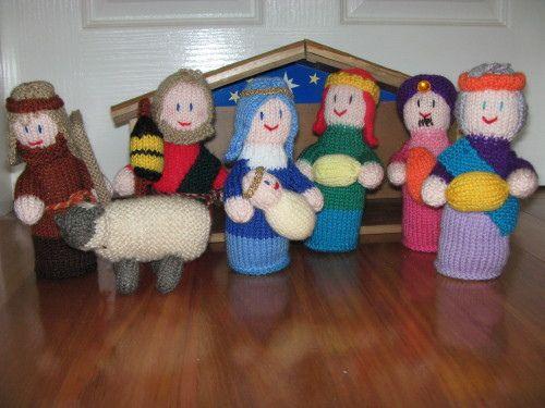 Knitted Nativity Scene Free Pattern