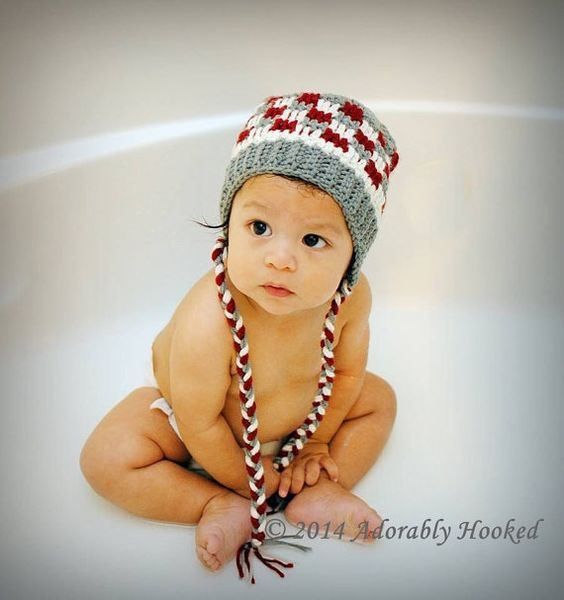 Crochet Baby Beanie Patchwork Beanie by Adorably Hooked