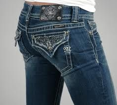 I love my Miss Me jeans, they look and feel great for women that have bigger bottoms and thighs. You dont always have to tug and pull them up over your butt checks.