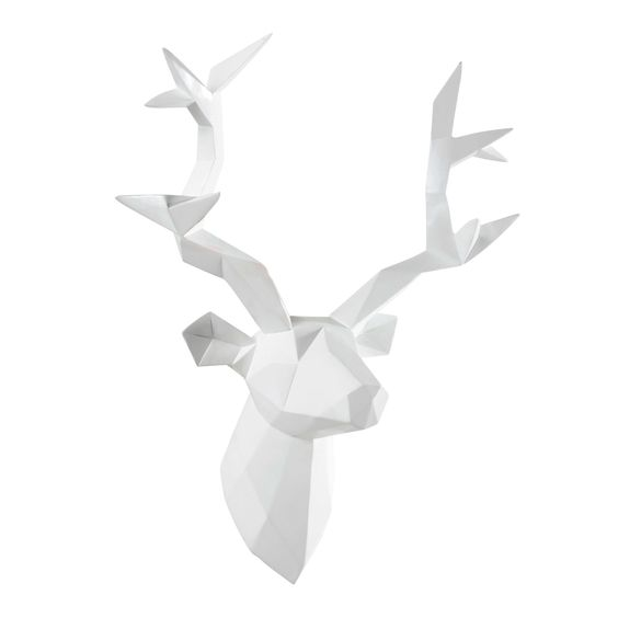 discover maisons du mondes origami stag head wall decoration white 45 x browse our stylish affordable decoration range and make your house a home