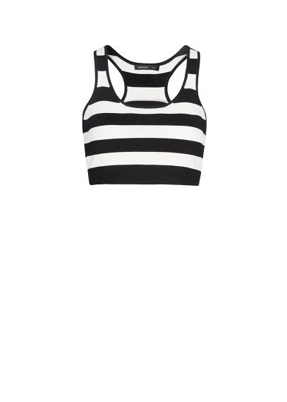MANGO - Striped cropped top