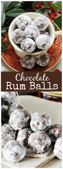 RUM BALLS {WITH SPICED RUM}