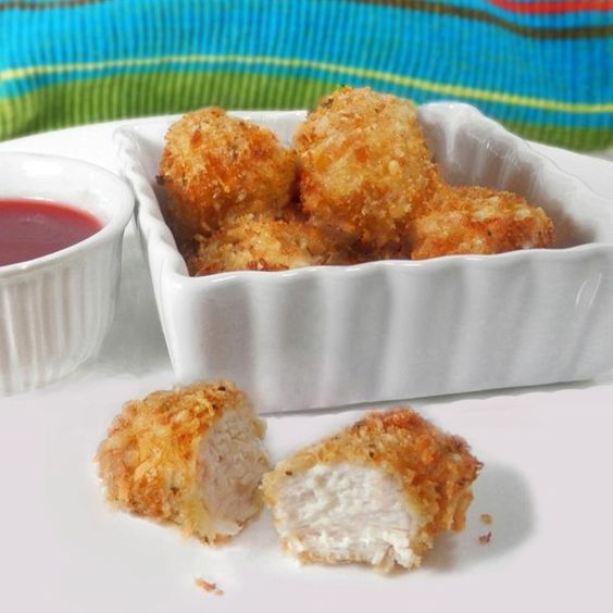 "Baked Chicken Nuggets I ""These were awesome! A lot better than any frozen or fast food chicken nuggets."""