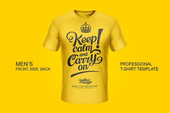 Professional Men's T-Shirt Template by Yellowimages.com on @creativemarket