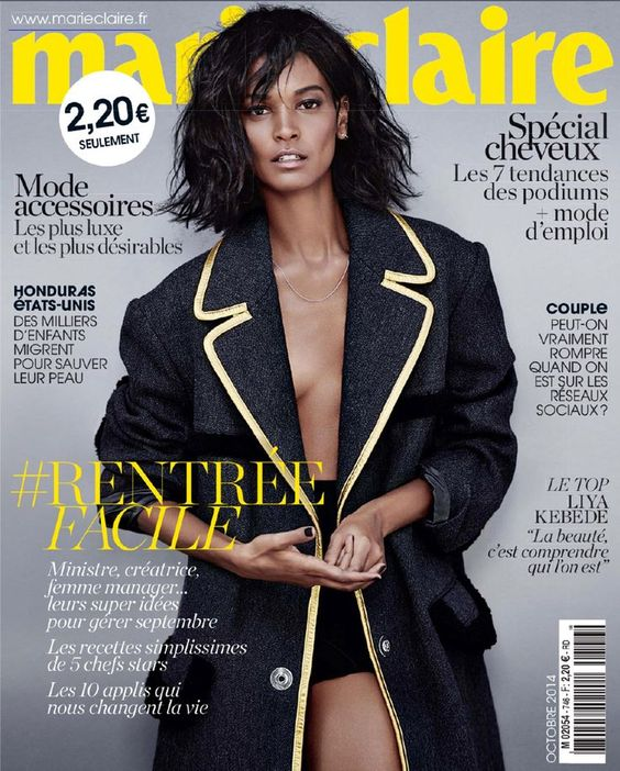 Liya Kebede Goes Platinum For Marie Claire France October 2014   The Mode Official: A hangout place for fashion and diversity.