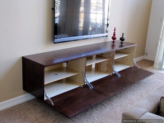 Floating Shelves Entertainment Center as Innovative Space Saver ...