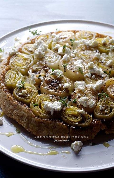 Leek-potato-goat-cheese-Tarte-tatin~Yes,-more-please!