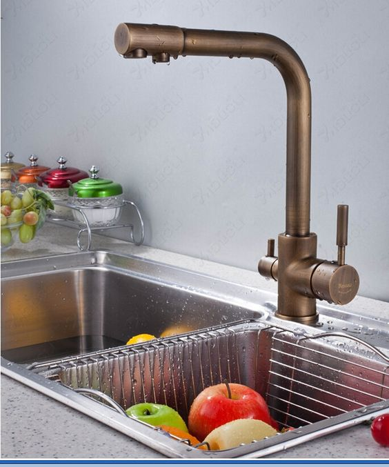 93.72$  Watch now - http://aliv04.worldwells.pw/go.php?t=32315010314 - new arrival high quality  brass material 360 degree  bronze finished kitchen faucet sink faucet with waterpurifier 93.72$