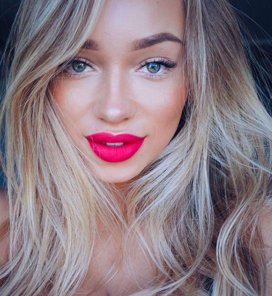 naked eyes + bold lips