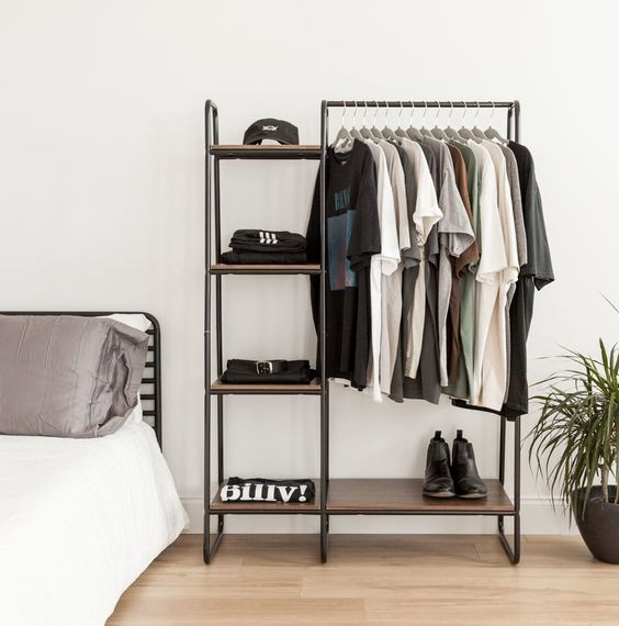 "IRIS 39.8"" W Garment Rack & Reviews 