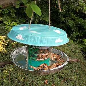 Bird feeders recycled materials and how to make on pinterest for Making a bird feeder out of recycled materials