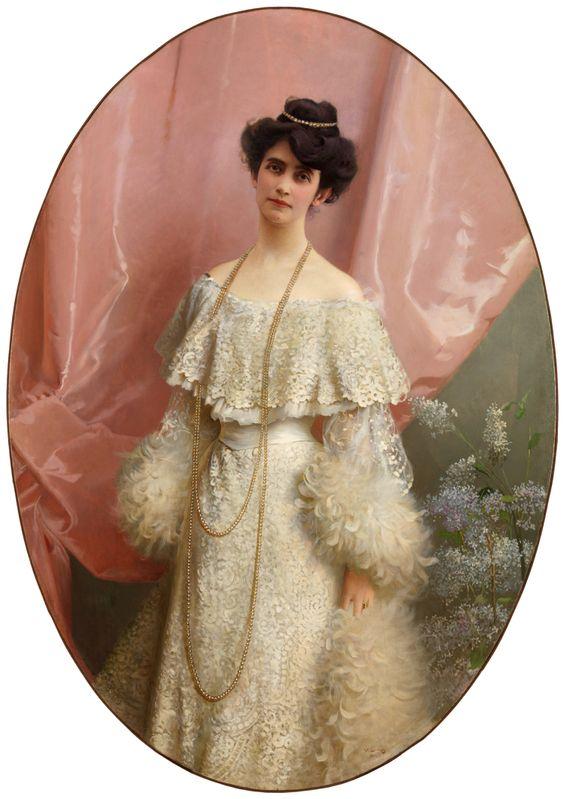 Gods and Foolish Grandeur: Signore di seta - portraits by Vittorio Matteo Corcos: Yole Biaggini Moschini, 1904.: