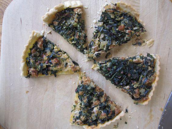 Sausage and Kale tart   Recipes   Pinterest   Kale, Tarts and Sausages