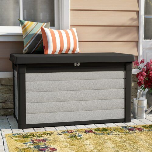 Denali 100 Gallon Resin Deck Box In 2020 Resin Deck Box Deck Box Outdoor Deck Box