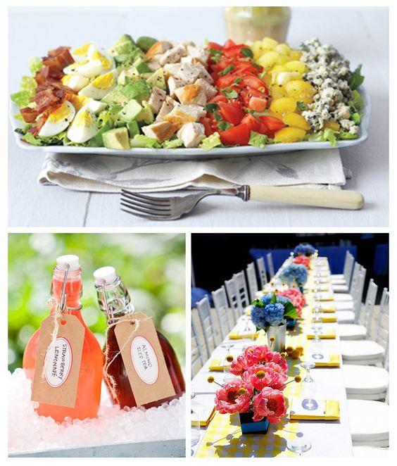 Salad display food entertaining pinterest summer for Summer party menu ideas