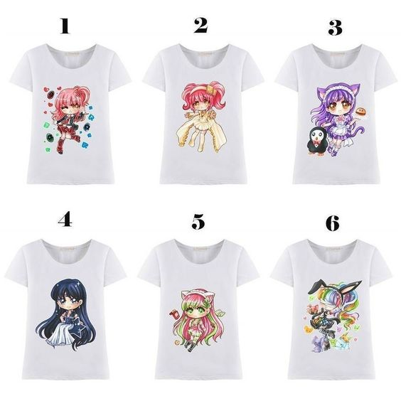 """Designs from @arikukko Which do you like? Show your support to artist to get more commission  Size up to 3XL max bust size of 120cm/47.24""""  S-3XL Chibi Anime Girl T-shirt Top #SP166011-#SP166016 Link: http://goo.gl/4FsHqZ Promo Code: sakura15 for 15$ off on 80$ while the Sakura Backpack giveaway is running  check other posts!  #spreepicky #kawaii #cute #jfashion #kawaiishop #kawaiistore #cuteshop #pluscutie #plussize #anime #animegirl #custommade #maid #catmaid by spreepicky"""