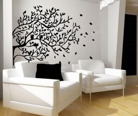 Find This Pin And More On Creative Rooms Living Room Black Tree