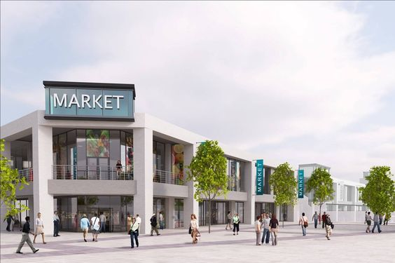 October 2013: Plans include a brand new contemporary market, a multi-plex cinema and a family-friendly shopping and leisure experience.