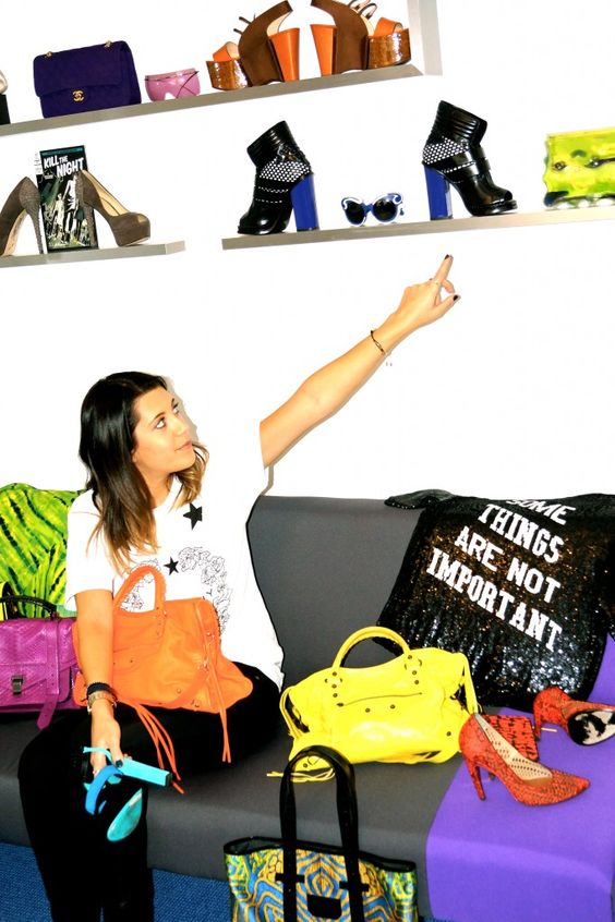 Why not use your accessories as art work?  See this fashionista's office...