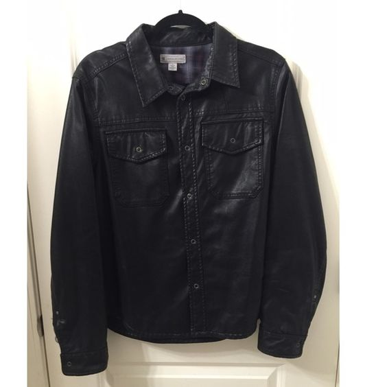 Men's Faux Leather Jacket Black Men's Faux Leather Jacket Charles and a Half Jackets & Coats Blazers
