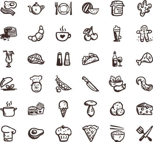 Free Infographic free infographics icons : Tasty Icons Free — download food icons | ART & DESIGN | visual ...