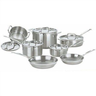 http://yummycakedecorating.com/pinnable-post/cuisinart-mcp-12-multiclad-pro-stainless-steel-12-piece-cookware-set/ The kitchens of France were the inspiration behind the elegant Cuisinart MultiClad Pro Stainless Cookware collection. Cuisinart has included everything you need in this spectacular 12-piece set to perfectly perform all the basic cooking tasks, large or small. From reheating a single portion of soup to preparing appetizers, entre?es a...