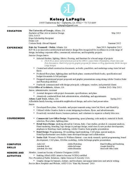 interior design resume objective examples objectives