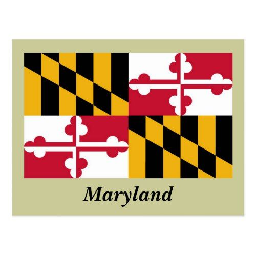Maryland State Flag Postcard Zazzle Com State Flags Postcard Colorful Backgrounds