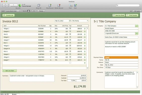 FileMaker Pro 12 u2014 I wanna have it and use it! Products I Love - invoice generator software