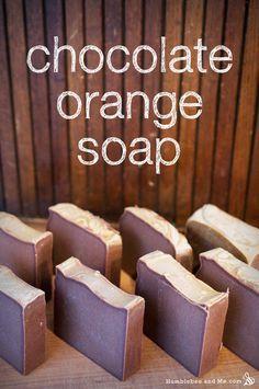 Chocolate Orange Christmas Soap (CP, palm-free). To keep it vegan, skip the silk.