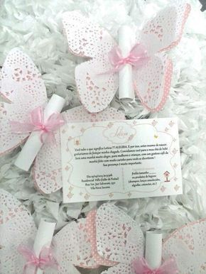 Bellas Invitaciones Con Tema De Mariposas Baby Shower De
