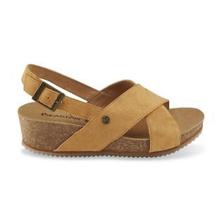 Women's Renee Tan Slingback Wedge Sandal - Sears
