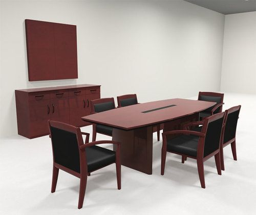 Modern Boat Shaped 8 Feet Veneer Office Conference Table Ro Cor C3 Conference Table Boardroom Table Design Office Table Design