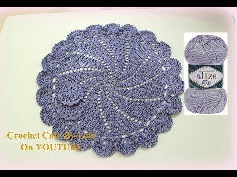 Crochet Cafe By Loly كروشيه مفرش دائري سهل جدا قناة كروشيه كافيه Youtube Crochet Hats Crochet Hats