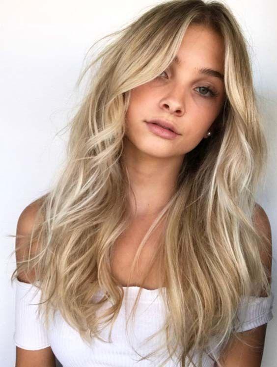 cabelos com luzes loiros ótimo