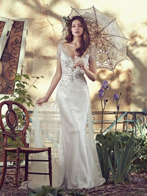 Imagen 138 Traje de novia estilo vintage con cuentas de Maggie Sottero | HISPABODAS