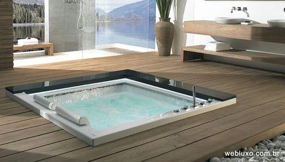 Web Luxo - Casa e Decoracao: Banheira de superfície plana