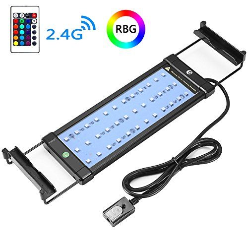 Coodia Aquarium Hood Lighting Color Changing Remote Controlled Dimmable Rgbw Led Light For Aquarium Fish Tan Aquarium Hood Aquarium Lighting Aquarium Fish Tank